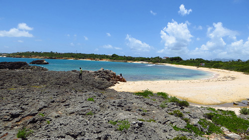 [Click to enlarge beach at Cap Juluca]